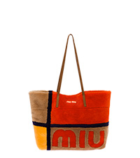 手提袋  焦糖色 + 橙色