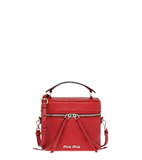 Madras leather shoulder bag FIERY RED MiuMiu bcdb07f14daf1