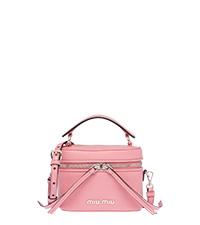 Madras leather shoulder bag PINK MiuMiu 84c8d583ddd28