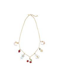 Multicoloured Charm Crystal Necklace Miu Miu Ype5q9rf