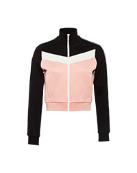 75fc19028c5 Cotton fleece sweatshirt with inserts PETAL PINK MiuMiu