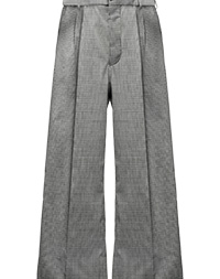 Checked wool trousers STEEL GRAY MiuMiu 8d06f20a7d7