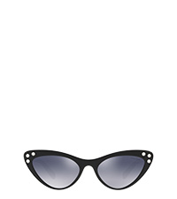 Miu Miu Logo frames with crystals GRADIENT INK BLUE MIRRORED LENSES MiuMiu 2949abf06a