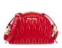 Matelassé leather shoulder bag FIRE ENGINE RED MiuMiu