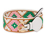 Embroidered fabric belt White/Green MiuMiu