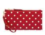 Polka-dot Soft Calf pouch Fiery Red/White MiuMiu