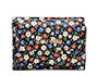Printed Glacé leather wallet Black MiuMiu