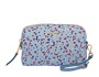 Printed Madras leather pouch Astral Blue MiuMiu