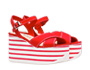 Gabardine sandals Red/White MiuMiu