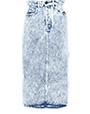 Saia lápis em denim marmorizado Light Blue MiuMiu