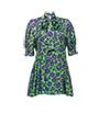 Silk dress GREEN MiuMiu
