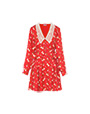 Satin jacquard dress Red MiuMiu