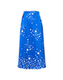 Printed satin skirt Blue/Ivory MiuMiu