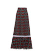 Printed cotton maxi-skirt Black MiuMiu