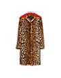 Faux Fur Leopard Coat Khaki MiuMiu