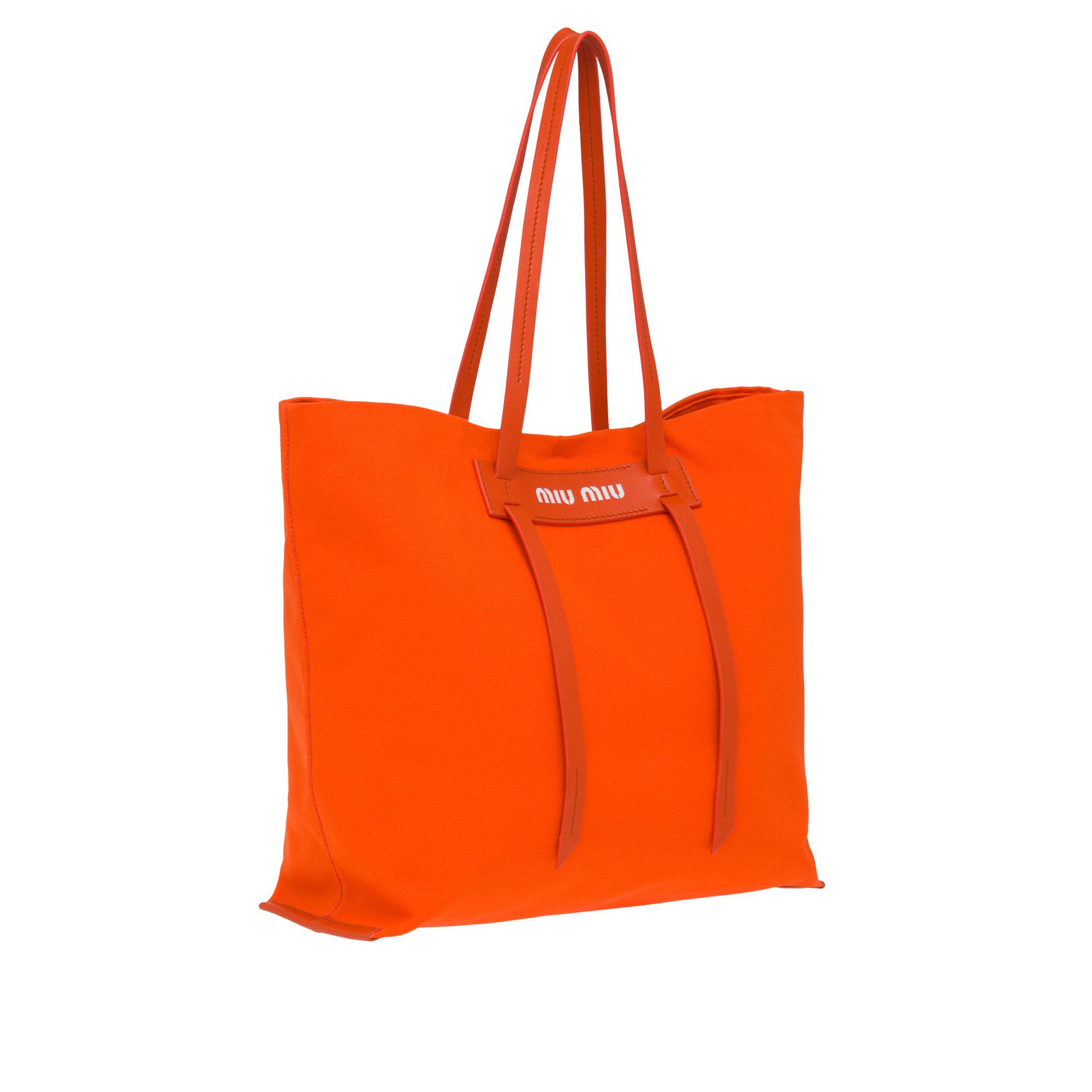 logo tote - Yellow & Orange Miu Miu lBFHn5m2VX