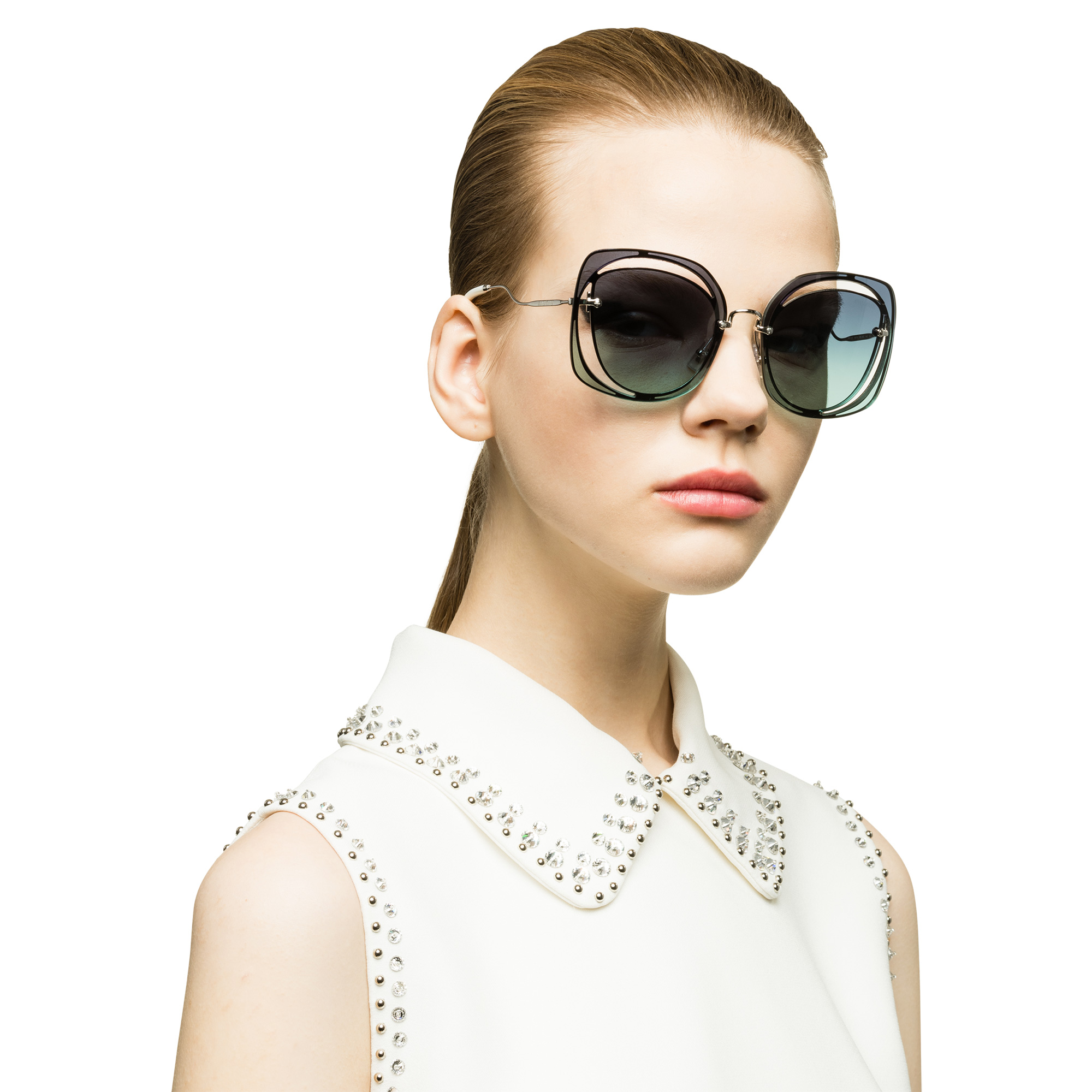 c07247ff4367 Miu Miu Scénique cut-out eyewear | MiuMiu
